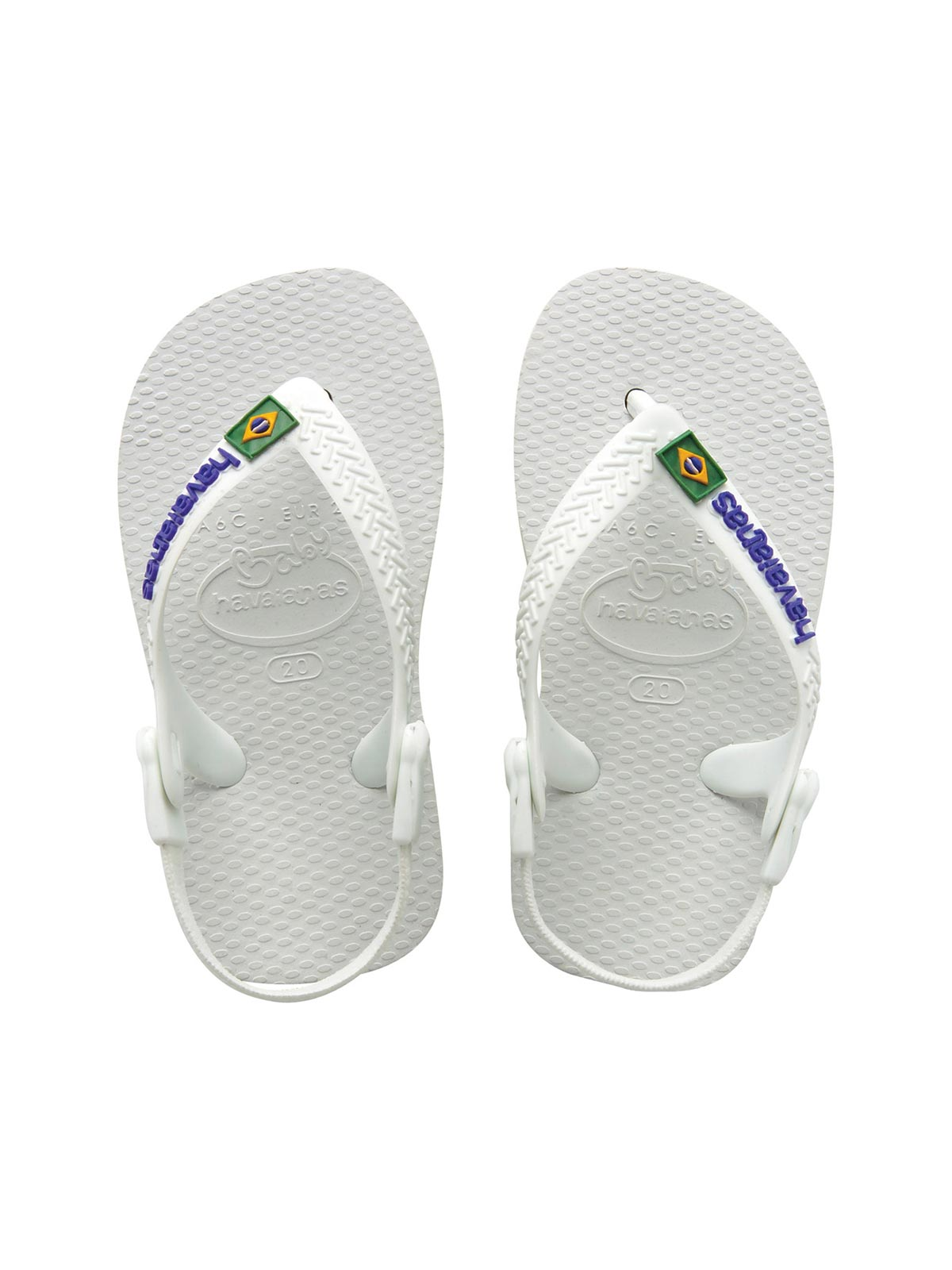 5703b7b133df9 Flip-Flops Flip-flops - Baby Brasil Logo White white - Brand Havaianas