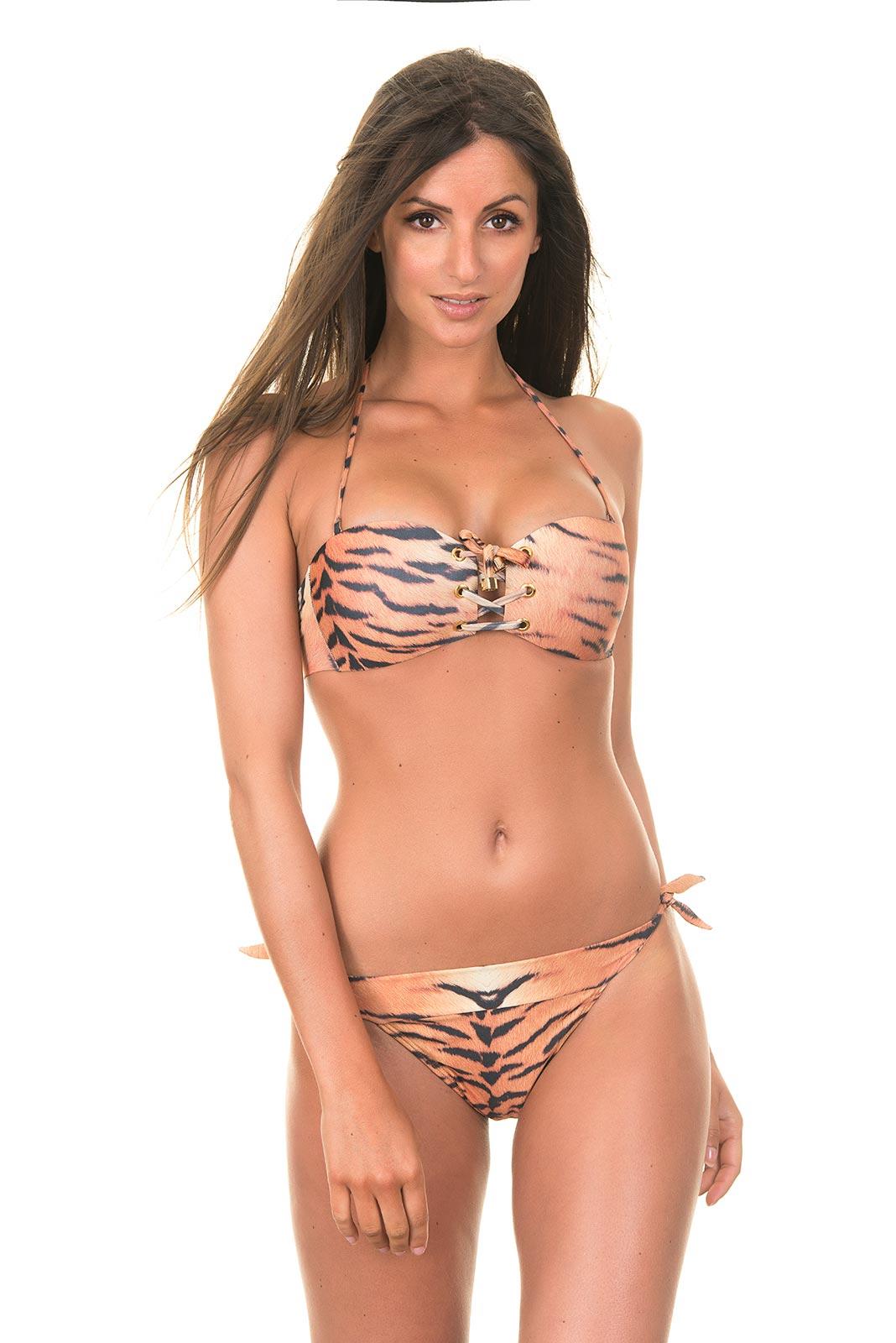 ellis interlinked halter bikini