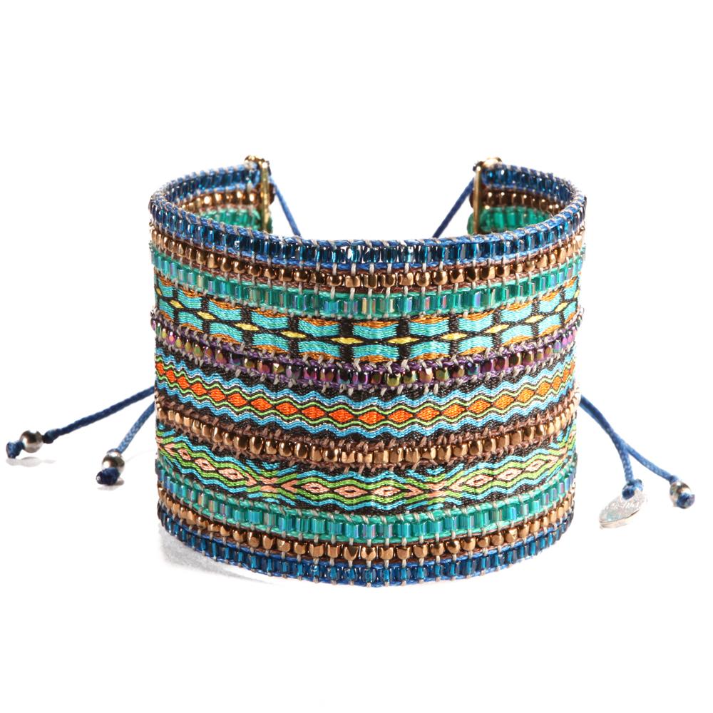 site réputé bc9e7 b0c8a Bracelet Collage Blue Turquoise Big
