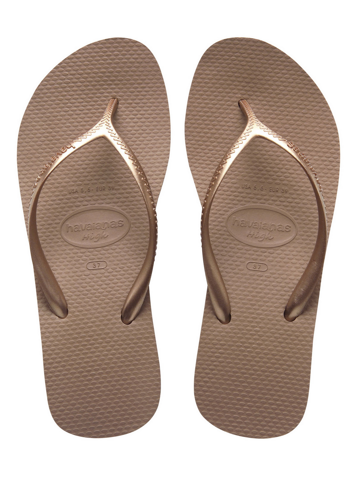 Flip Flops Flip flops High Fashion Rose Gold Brand Havaianas