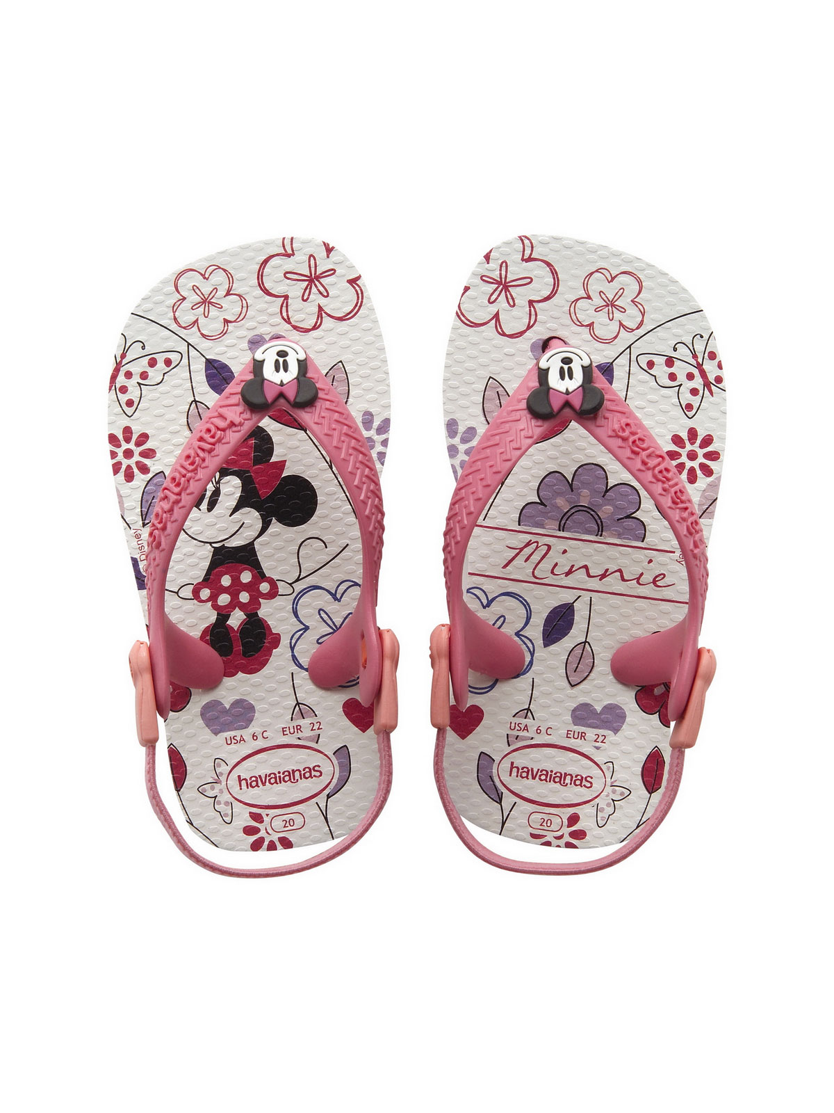 havaianas tong baby mickey minnie white pink. Black Bedroom Furniture Sets. Home Design Ideas