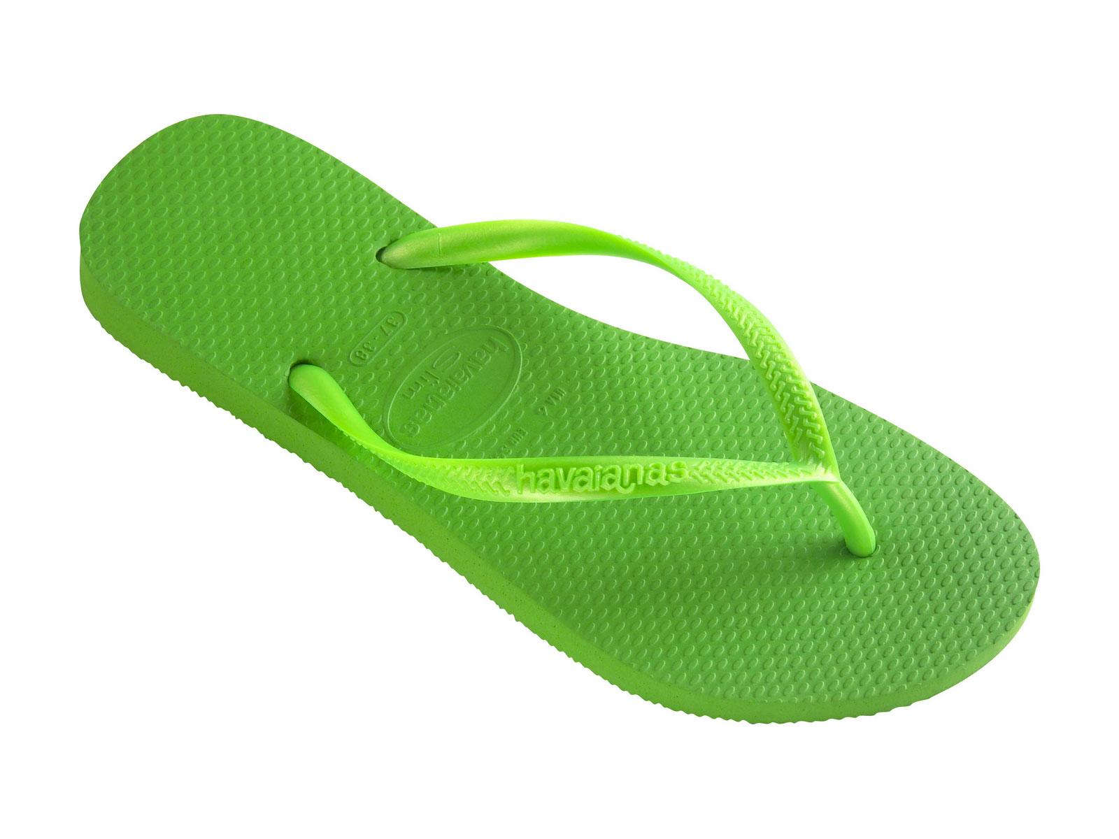 Flip Flops Flip Flops Slim Neon Green Brand Havaianas