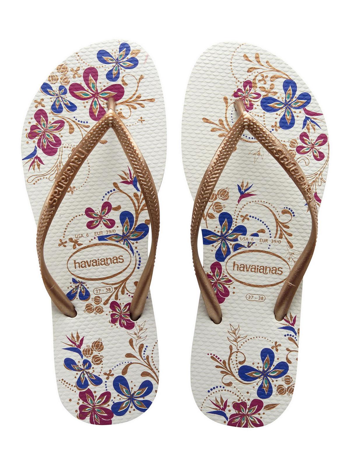 Havaianas Flip-Flops - Slim Season White-Rose Gold-7498