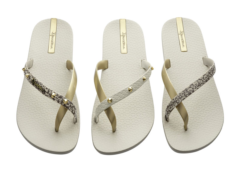Flip Flops Without Straps Flip-flops Pair of 3 Beige