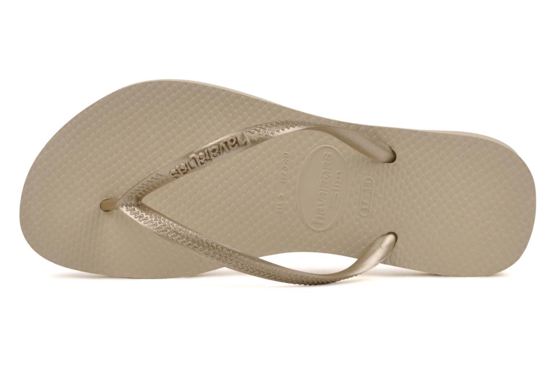 Flip-Flops Flip-Flops - Slim Sand Greylight Golden -9557
