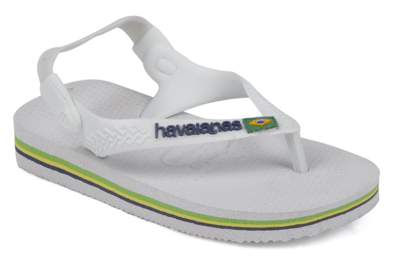 3a9798cc79281 Tongs Tong - Baby Brasil Logo White white - Marque Havaianas