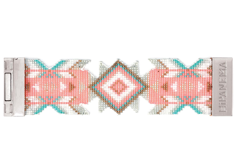 hipanema manchette ethnique hipanema en perles roses hipanema lana. Black Bedroom Furniture Sets. Home Design Ideas