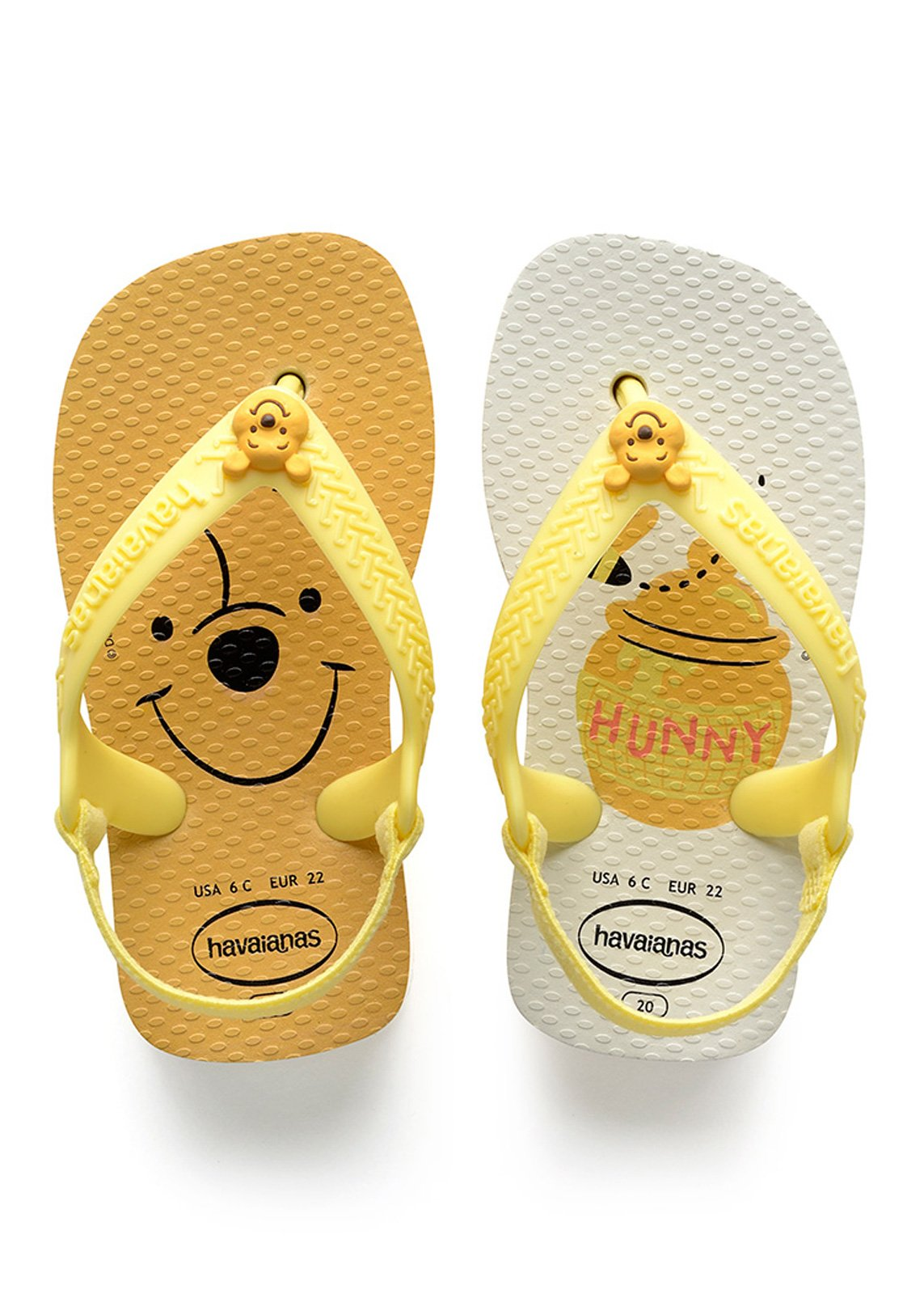 f11794886406 Sandals Baby Disney Classics Ii White-pollen Yellow - Brand Havaianas