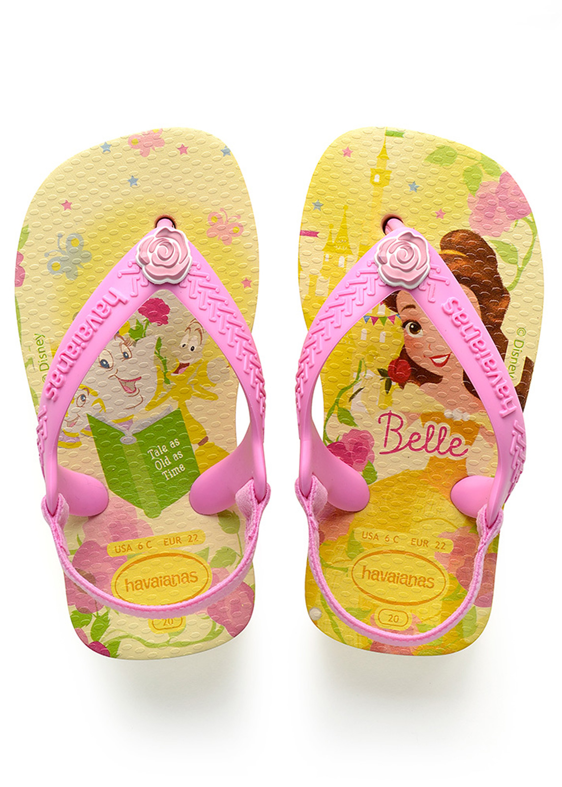 ac7fd9272be4 Sandals Baby Disney Princess Pollen Yellow - Brand Havaianas