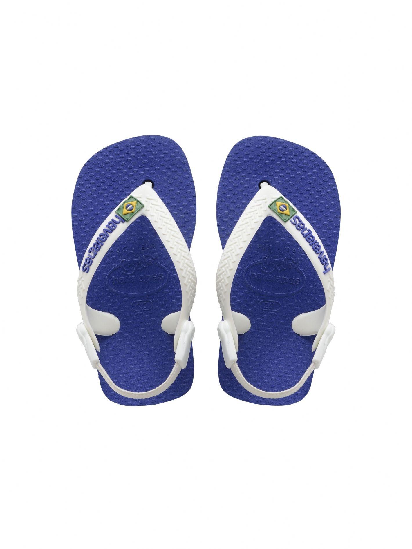 5c6b4595a Sandals Flip-flops - Baby Brasil Logo Marine Blue - Brand Havaianas