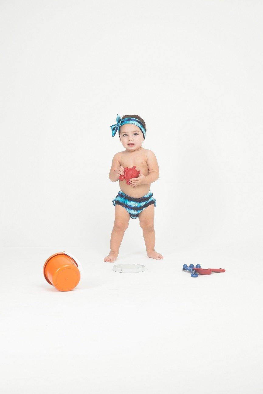 Blue man costume da bagno bambino babado baby galaxia - Costume da bagno bambino ...