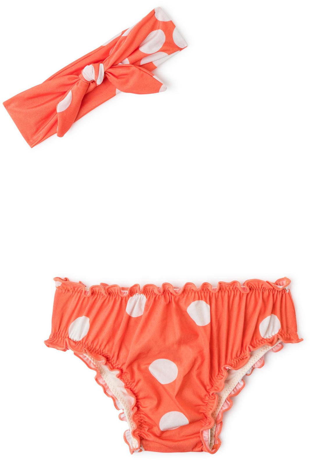 b49aa8c3ab8 Πορτοκαλί, μωρουδιακό, κοριτσίστικο, πουά σετάκι, αποτελούμενο από ...