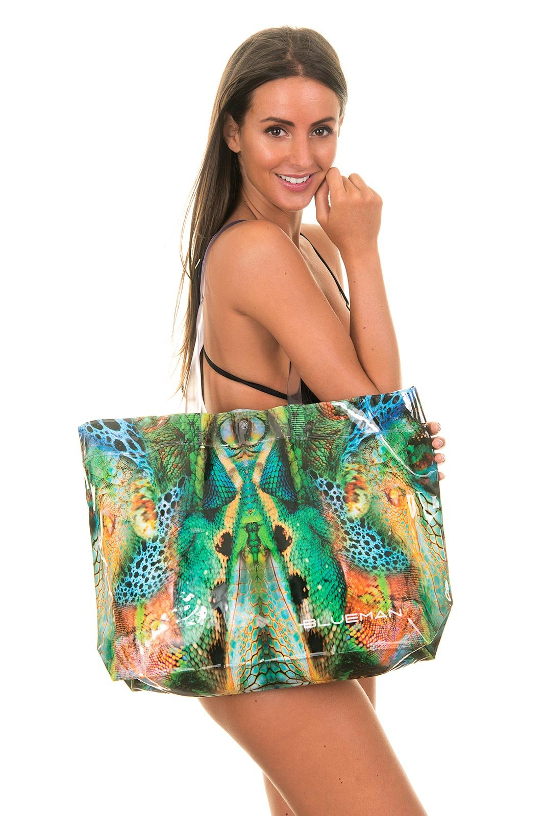 Blue Man Multi-coloured Animal Print Beach Tote Bag - Bolsa Skin
