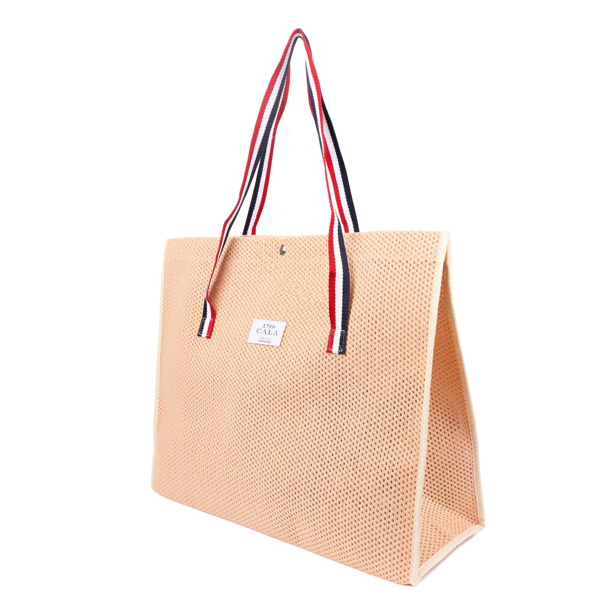 sac cabas en toile coton perfor e coloris p che cabas plage peche. Black Bedroom Furniture Sets. Home Design Ideas
