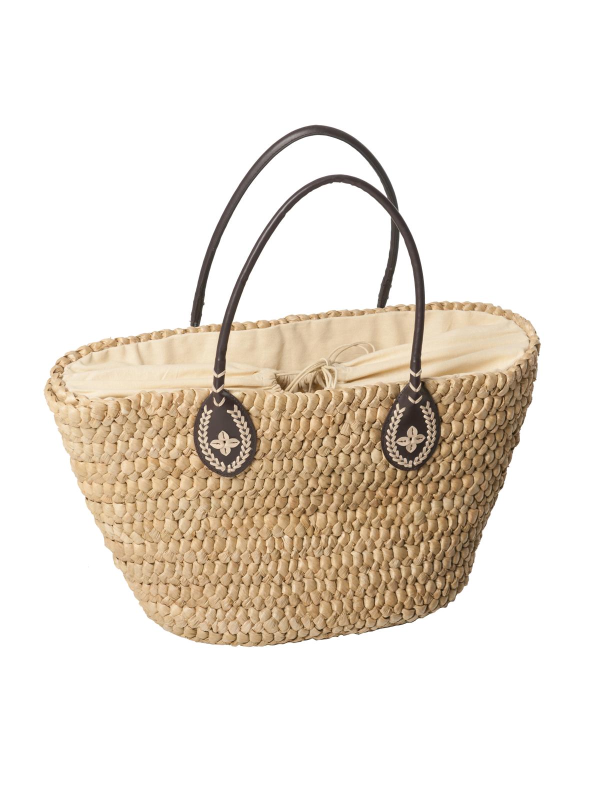 385e5d696828 Пляжная сумка-корзина из соломенной рогожи - Natural Straw Bag - Despi