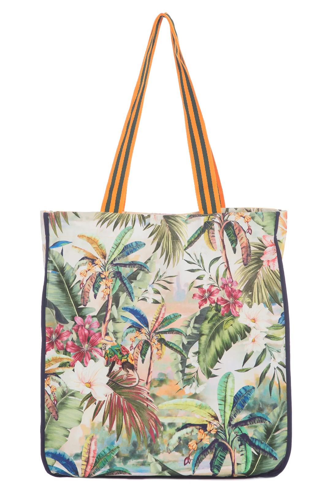 Borsa Da Spiaggia Grande Tucano Stampa Tropicale Bolsa Tucano Multicolorido