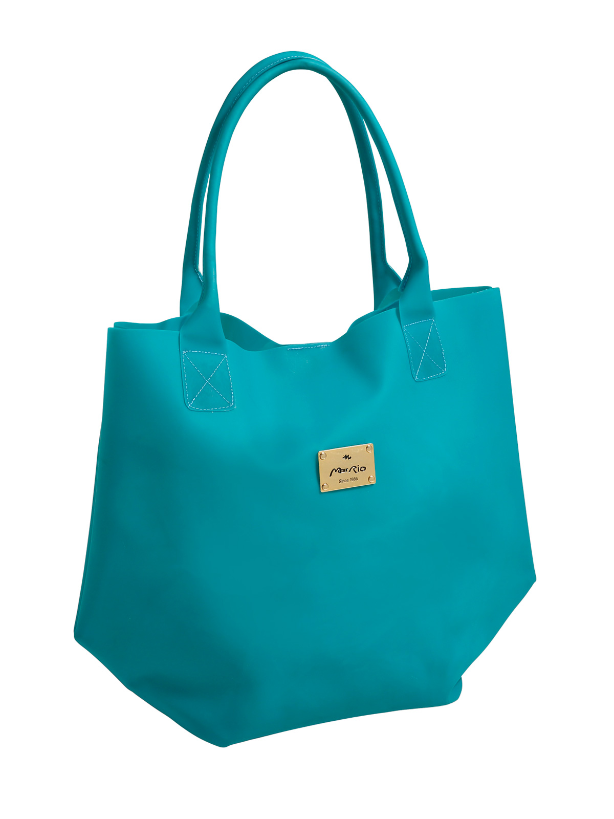 Mar Rio Blue Beach Tote Bag, Silicon Texture - Easy Teal