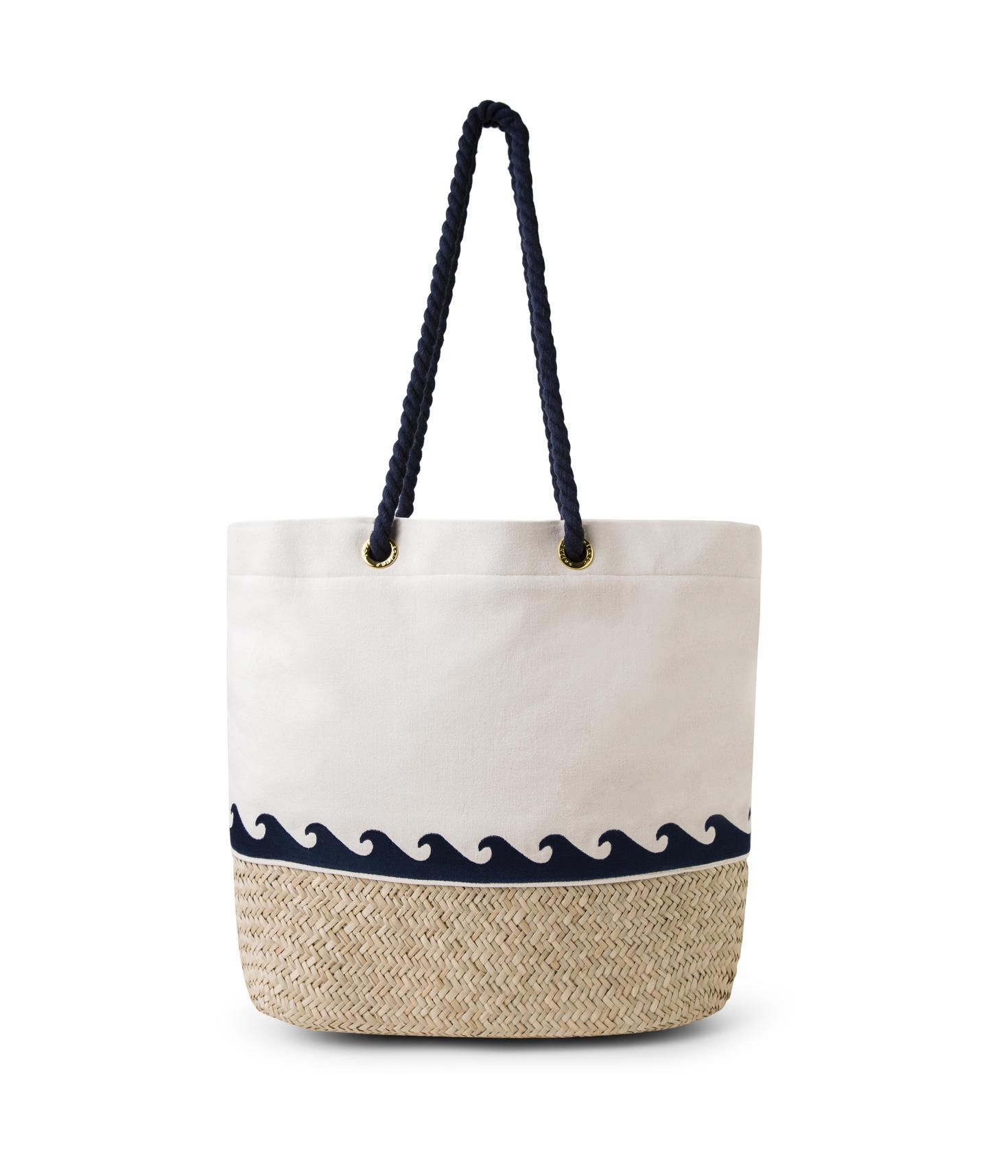 c126cadc48c9ca Beach bag made of canvas and braided straw - BOLSA LONA PALHA ...