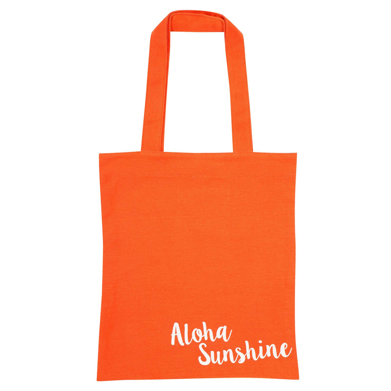 Sunnylife Orange Cotton Tote Bag With Pineapple Print - Cool Pineapple