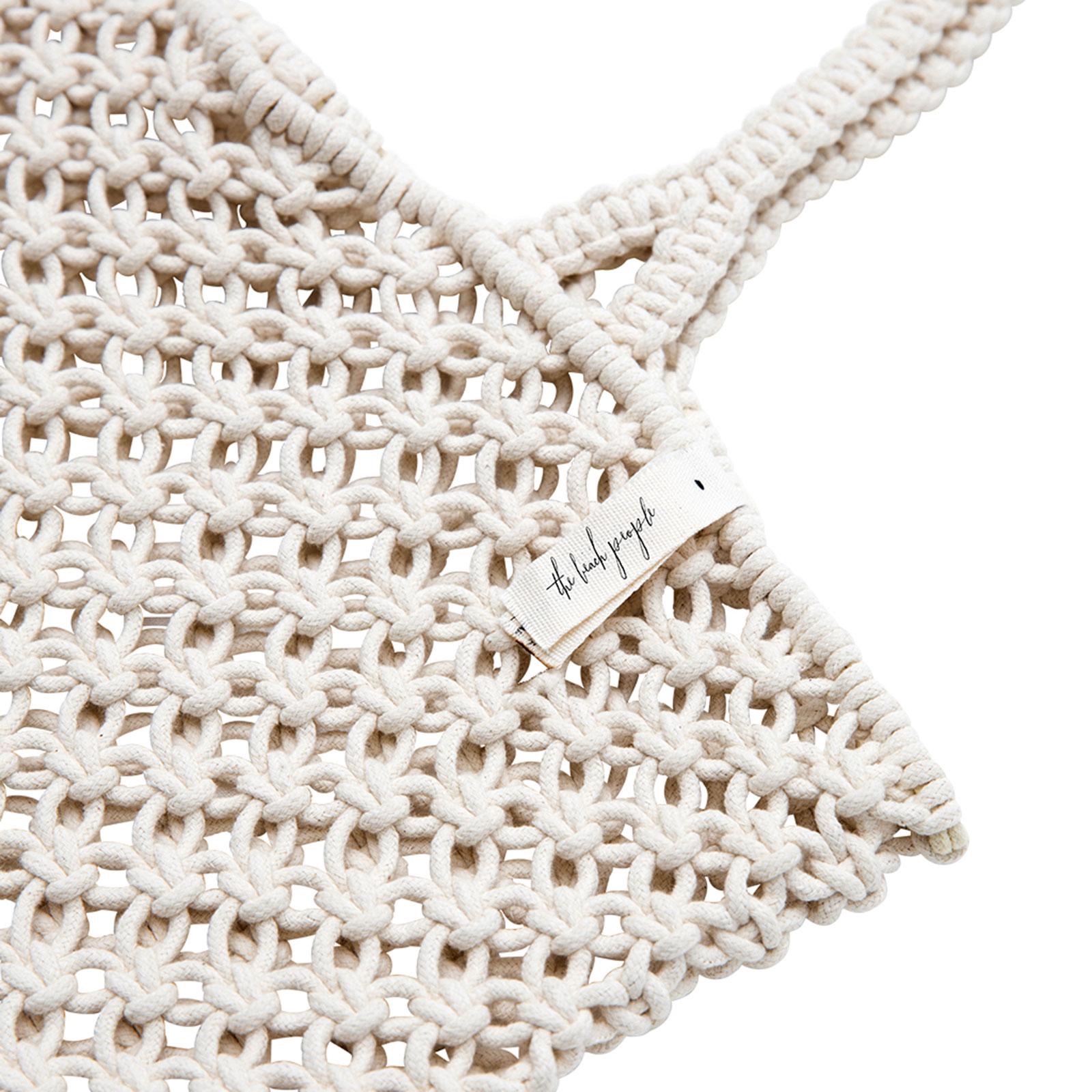 sac de plage sac cabas en macram blanc fait main macrame branco. Black Bedroom Furniture Sets. Home Design Ideas