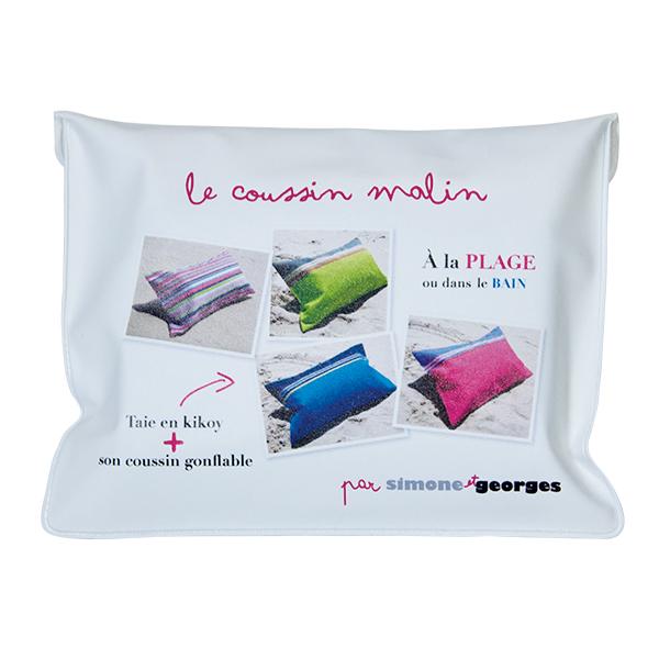 coussin de plage gonflable et taie rose bleue relax hibiscus. Black Bedroom Furniture Sets. Home Design Ideas