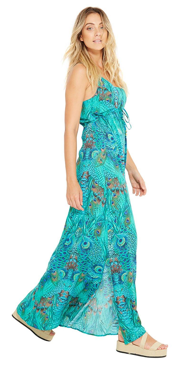 Combinar vestido azul pavo real