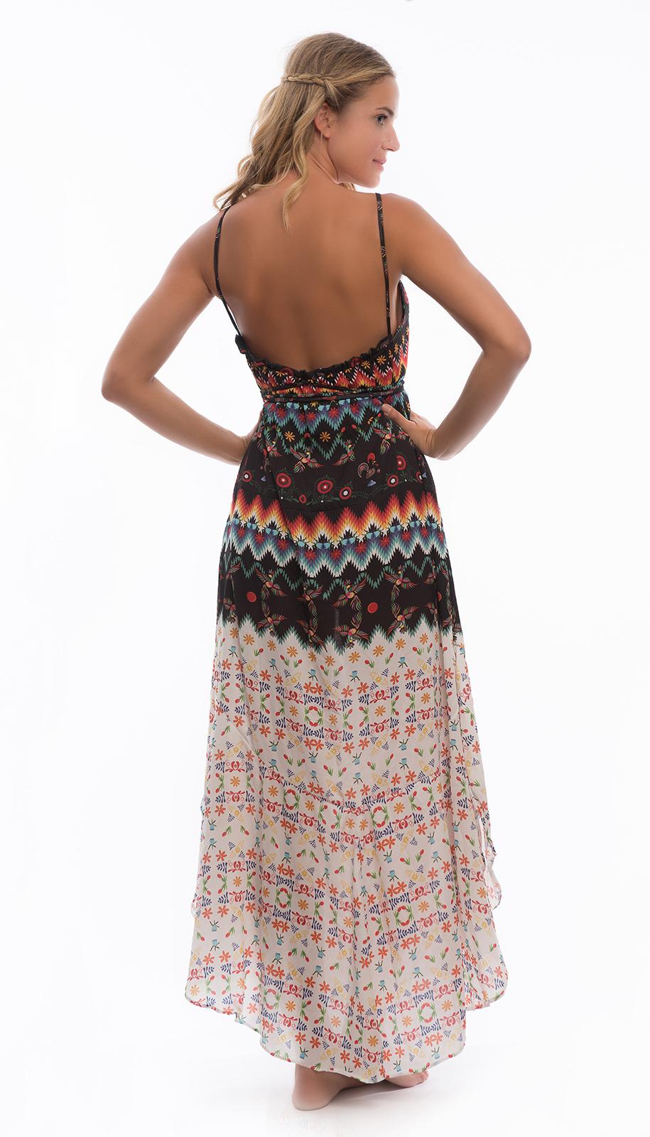 78b090b01d0e Vestito Vestito Lungo Da Spiaggia Stampa Allegra - Gladiator Dress