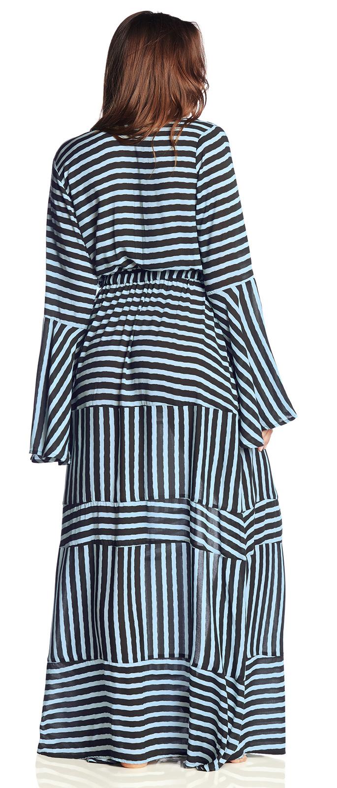 8e57d2abef Maxi Dresses Long Beach Dress In Strappy Print - Million Memories