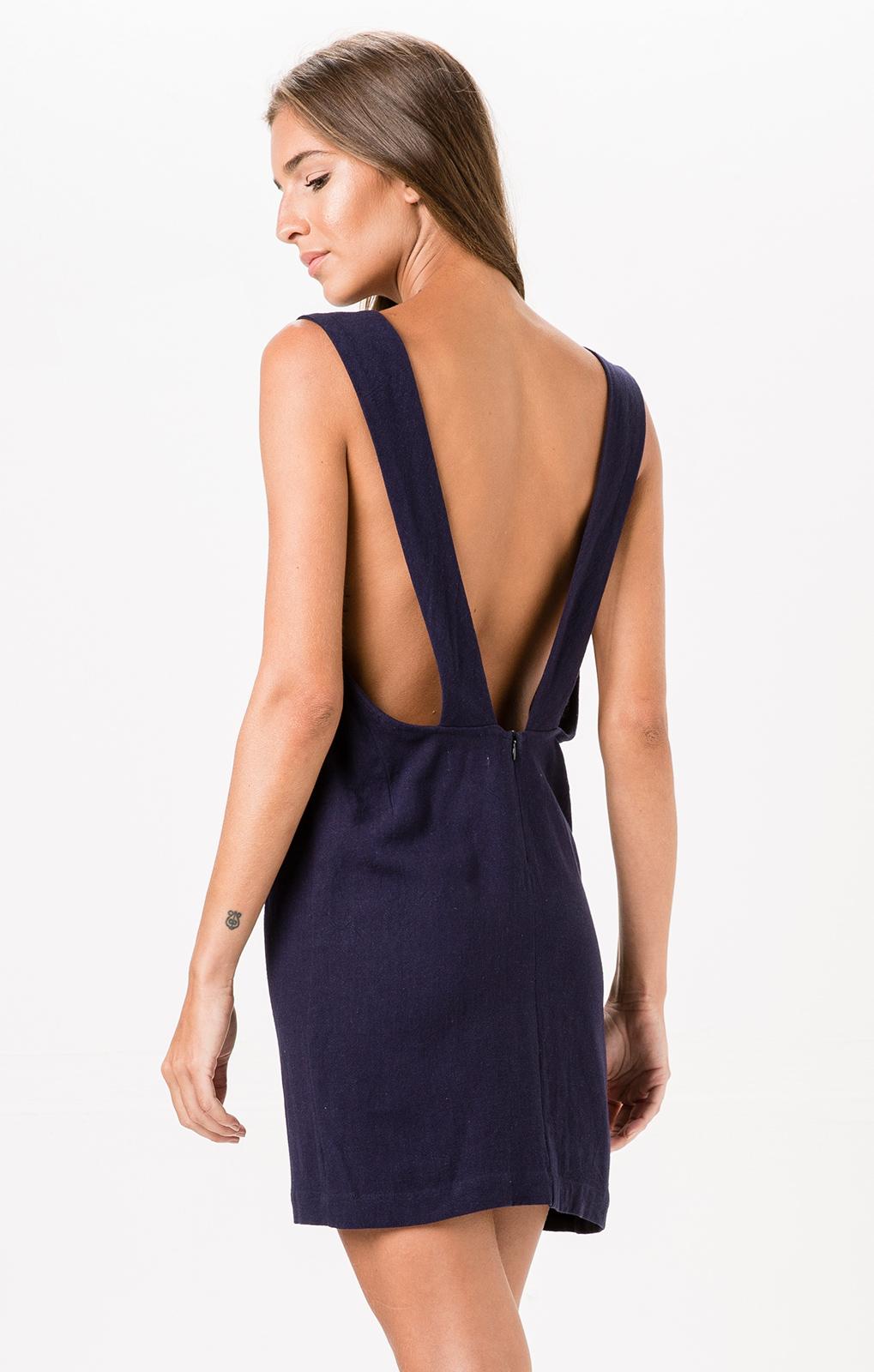 Strandkleider marineblaues sommerkleid mit v ausschnitt ceu azul - Sommerkleid v ausschnitt ...