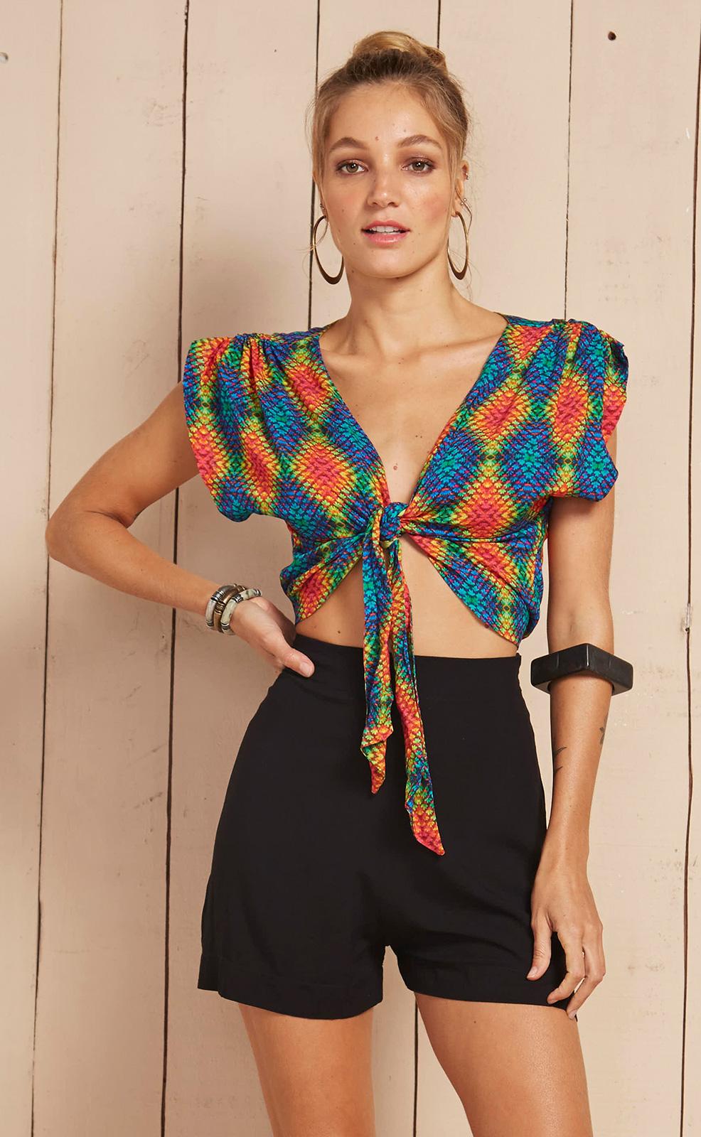 grande sélection couleur rapide plutôt sympa Combishort Original Imprimé Coloré/noir - Crochet Rainbow