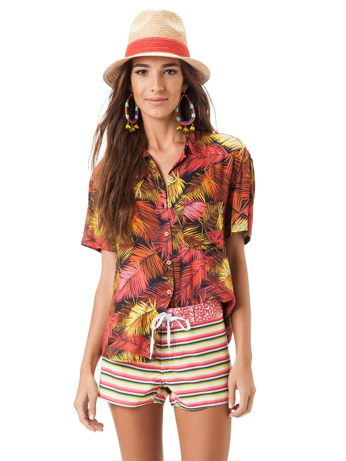 943918967c9 ... Strandshorts med striper og blomsterbelte - SHORT BREEZE ...