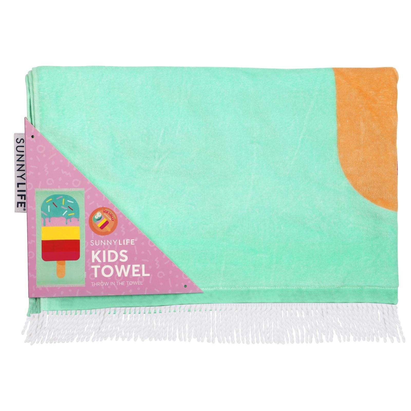 drap de plage enfant imprim glace kids towel ice lolly. Black Bedroom Furniture Sets. Home Design Ideas