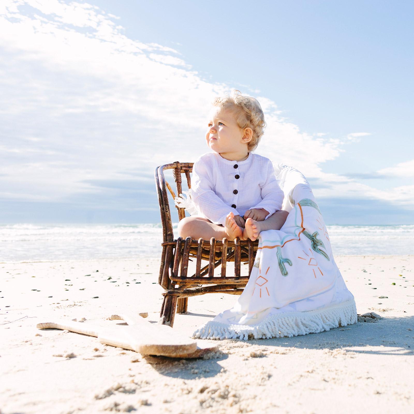 Toalla de playa para ni os redonda tema indio little native - Toallas redondas de playa ...