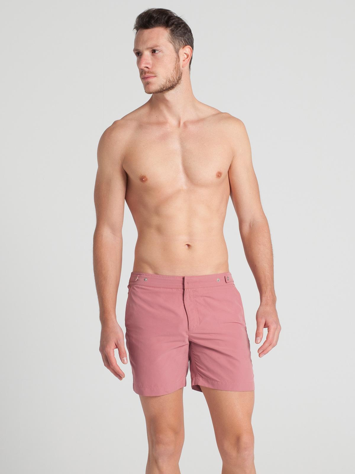 Шорты для плавания Однотонные розовые пляжные мужские шорты - Pinkpale 1be61d18c91fa