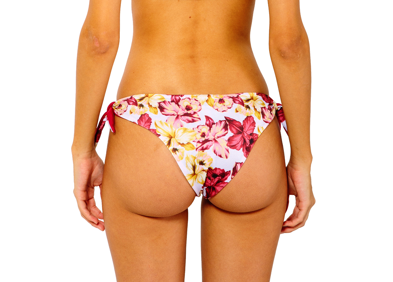 3d96a9b322bd2 Tie-side Bikini Bottom With Floral Print - Bottom Iris Orchid - Dalai