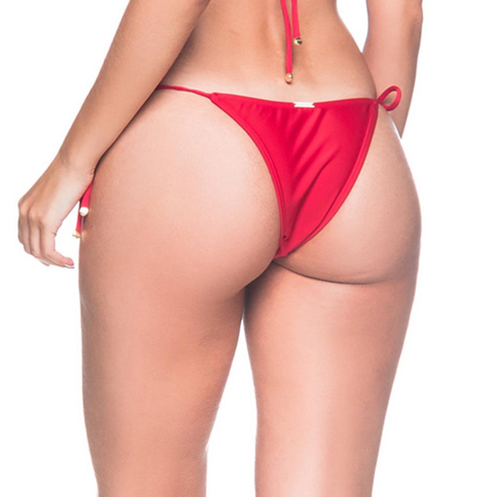 e883a28594 Bikini Bottoms Red Side-tie Bikini Bottom - Bottom Cortininha Mulungu
