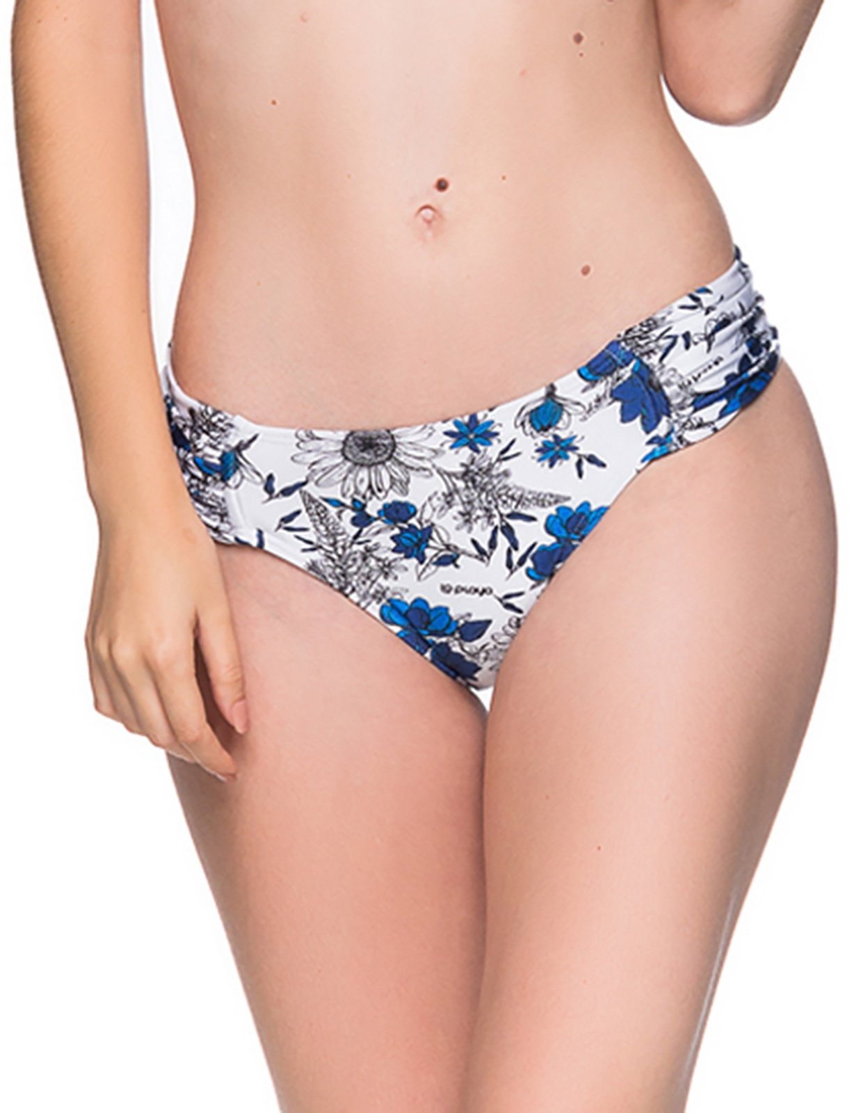 ce8c481a9ed Floral blue & white Brazilian bottom with pleated sides - BOTTOM DRAPE ATOBA  ...