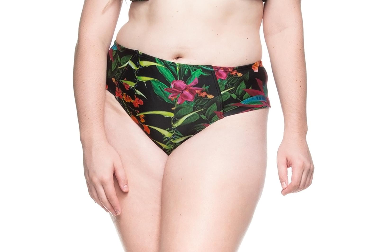 5412fc7e6d Plus-size tropical black bikini bottom - BOTTOM PRAIA DE GUADALUPE ...