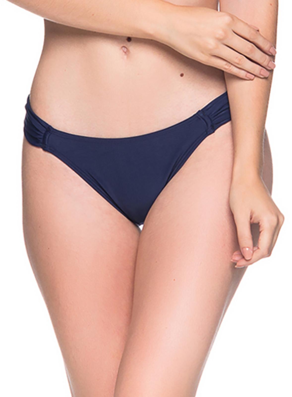 02532113e8443 Navy Blue Side-pleated Bikini Bottom - Bottom Turbinada Miramar - La ...