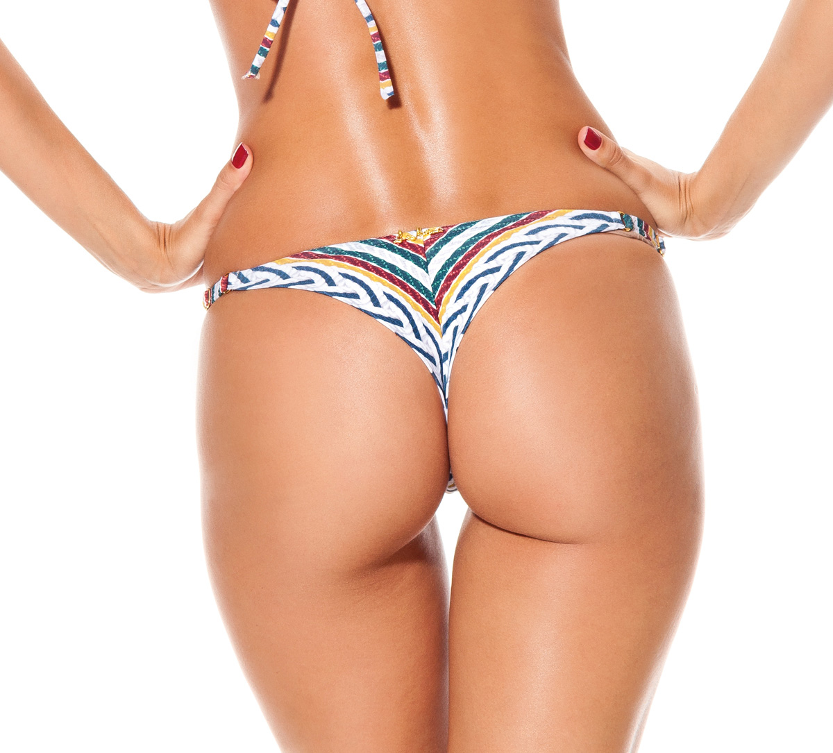 Bikini thong bottoms can