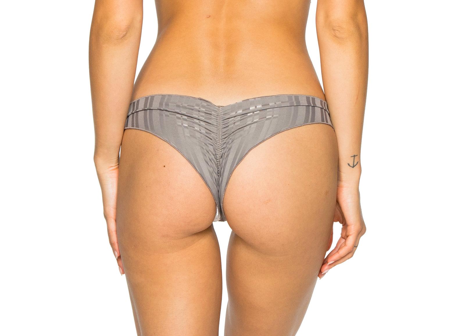875461022d9 ... Grey scrunch bikini bottom with ring details - BOTTOM RUCHED GREY TURI  TURAI ...
