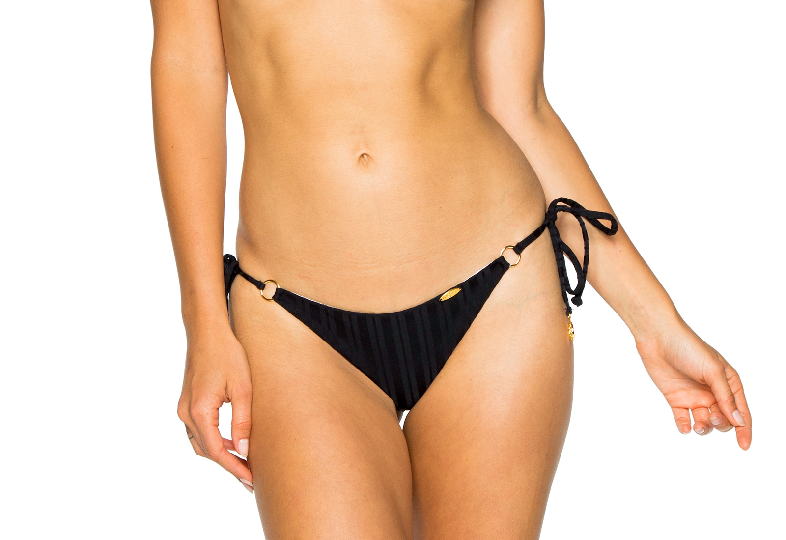 3cebade14ce Side-tie black scrunch Brazilian bikini bottom - BOTTOM SEAMLESS BLACK TIRI  TURAI ...