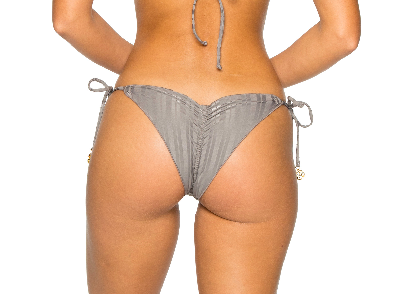 1ad0d9d6d5197 ... Side-tie grey scrunch Brazilian bikini bottom - BOTTOM SEAMLESS GREY  TURI TURAI ...