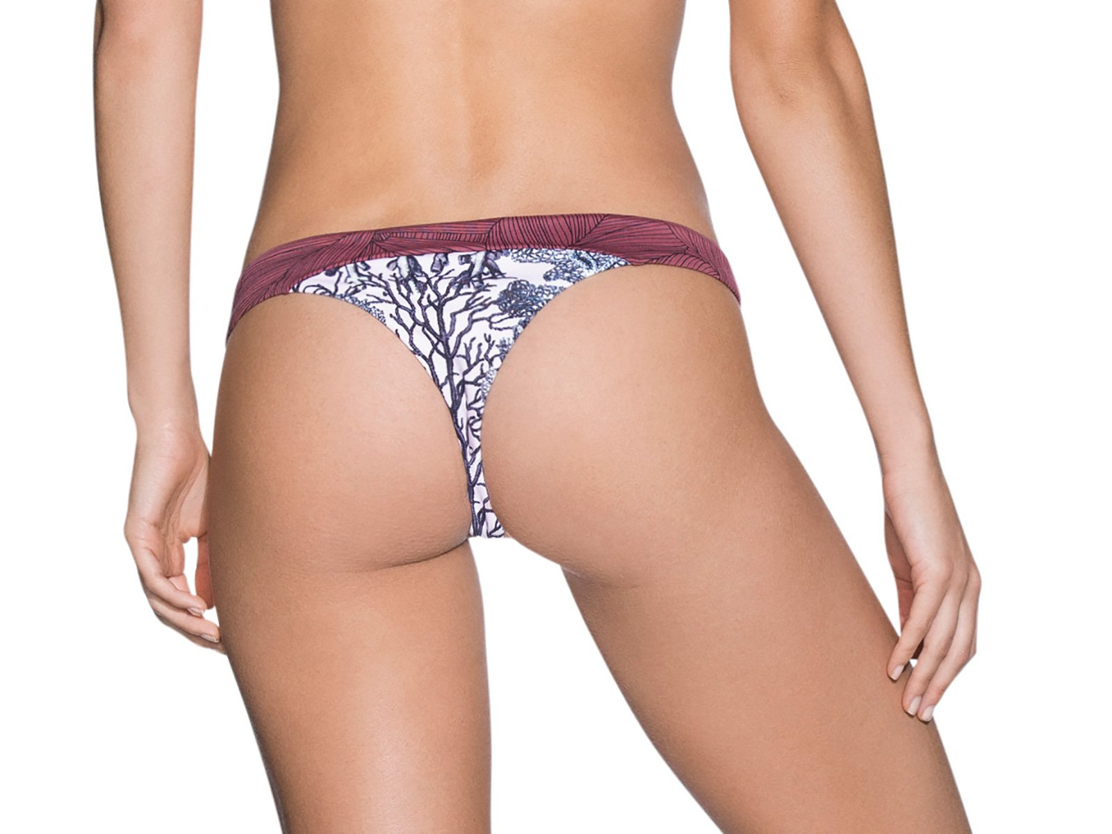 e345c57e59 Swimsuit Thong In A Mixed Floral Print - Bottom Cumbia Society - Maaji