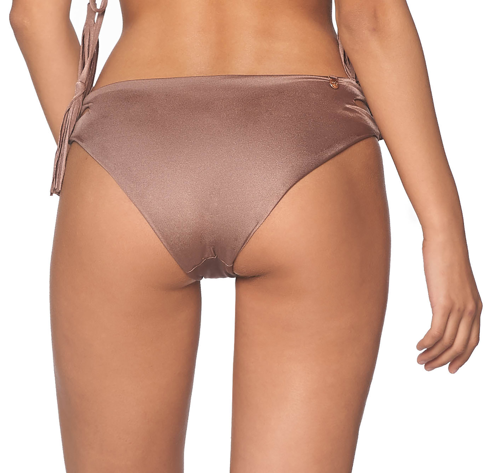 fbe81bdf35859 ... Iridescent taupe bikini bottom with side cutout - BOTTOM PACIFIC SPARKLY  TAUPE