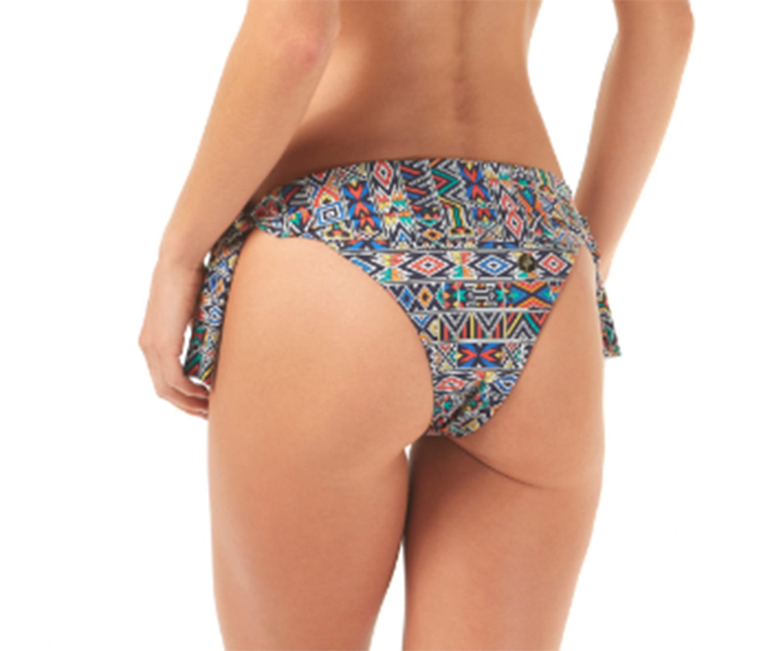 4eb8d712d6 Brazilian Bikini Bottom With Ethnic Print - Calcinha Como Uma Onda ...