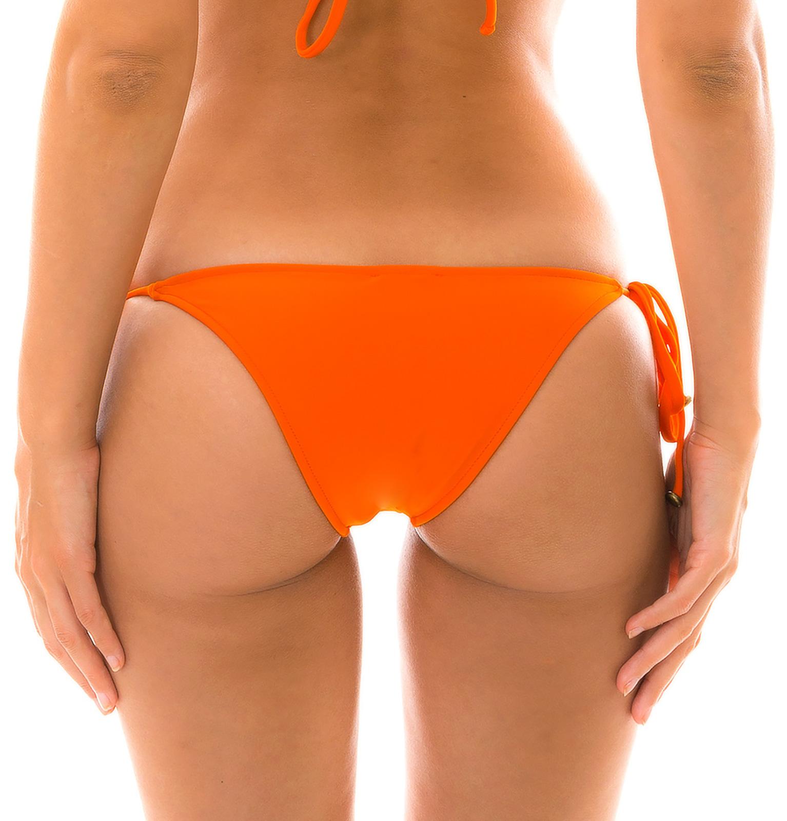 d591ab57484 Orange Side-tie Brazilian Bikini Bottom - Bottom Lacinho King - Rio ...