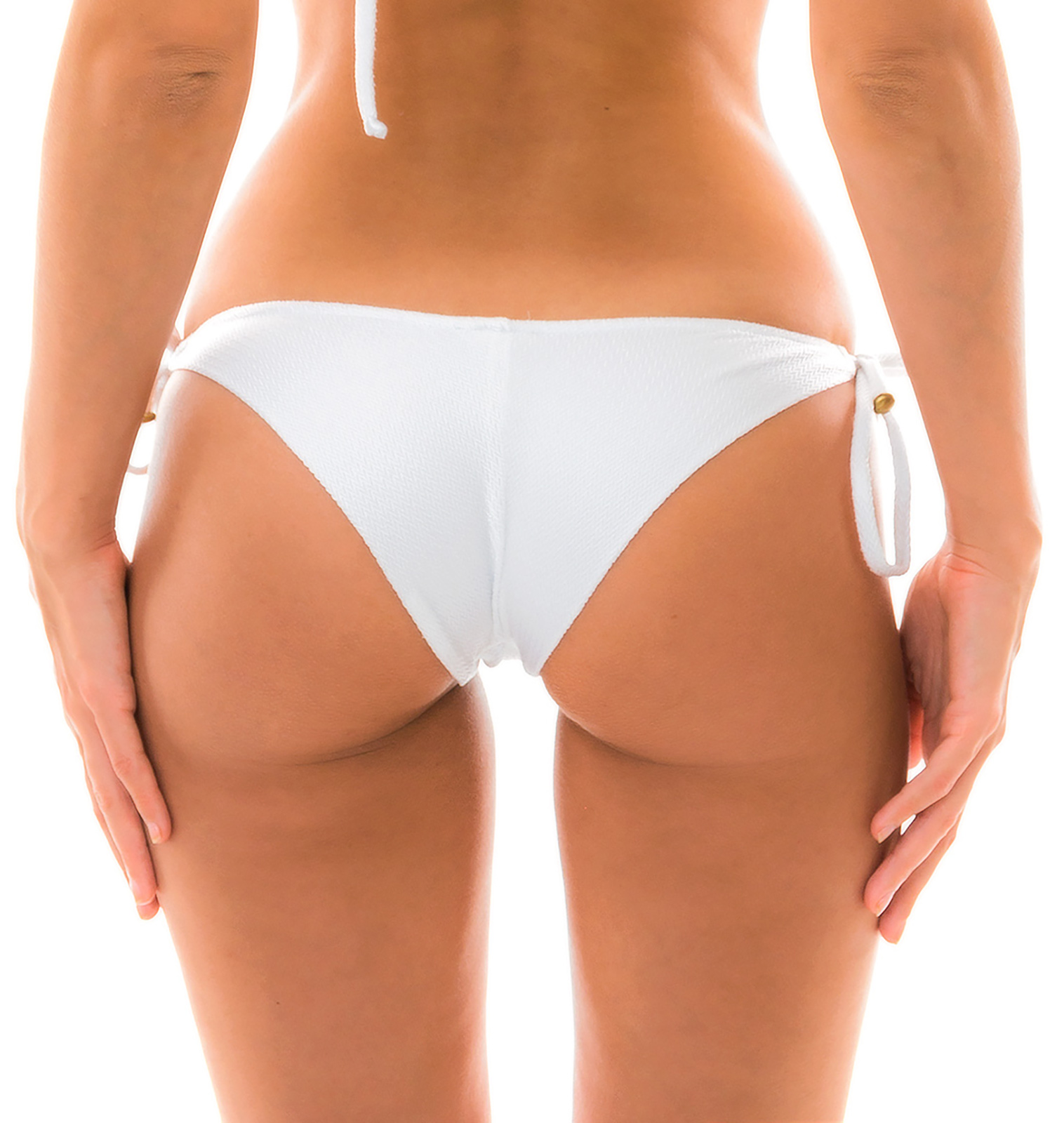 7f6016d476 ... Textured and accessorized white bikini bottom - BOTTOM DUNA TRI BRANCO  ...