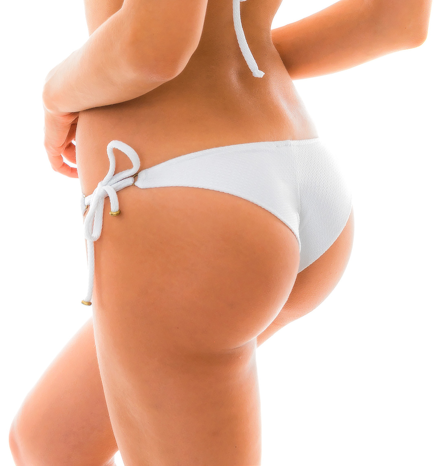 b3f09dc6a7 ... Textured and accessorized white bikini bottom - BOTTOM DUNA TRI BRANCO