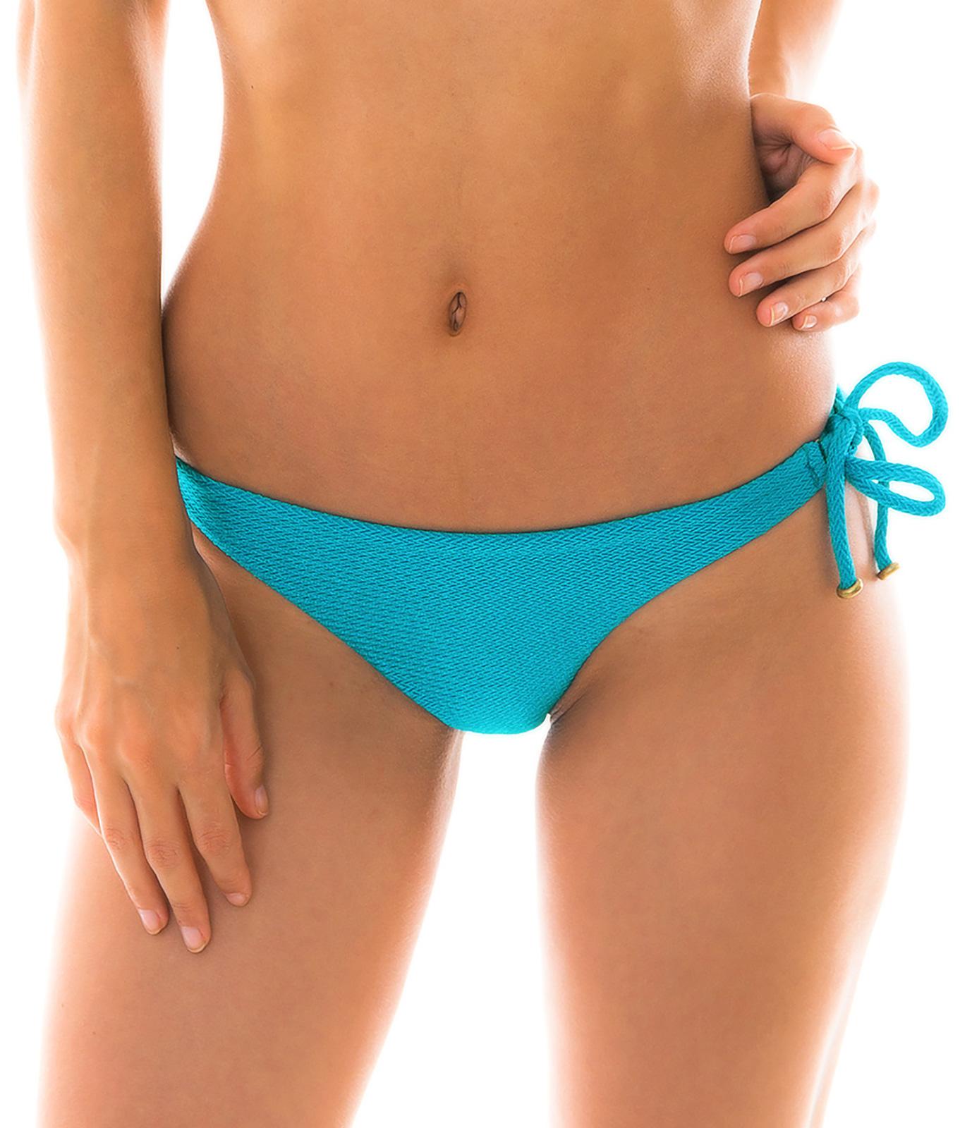 289d887670 ... Textured and accessorized blue bikini bottom - BOTTOM DUNA TRI FIORDE  ...